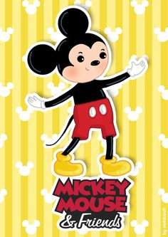 neilabbott: ilustraciones y diseños | Mickey and Minnie Mouse posters by neilabbott