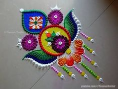 Easy and Beautiful New Rangoli Design For Diwali 2019 with Image Easy Rangoli Designs Videos, Easy Rangoli Designs Diwali, Indian Rangoli Designs, Rangoli Designs Latest, Simple Rangoli Designs Images, Rangoli Designs Flower, Free Hand Rangoli Design, Rangoli Border Designs, Small Rangoli Design