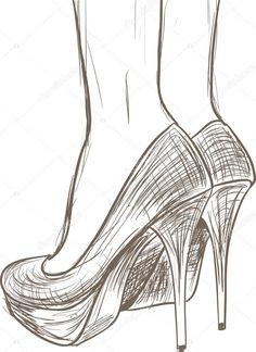 Baixar - Esboço de sapatos — Ilustração de Stock #13405236
