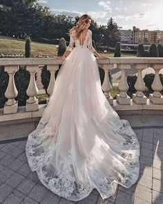 27 Ball Gown Wedding Dresses Fit For A Queen ❤ ball gown wedding dresses illusion back with three quote sleeves lace florence by #weddingforward #wedding #bride #weddingoutfit #bridaloutfit #weddinggown #women's style