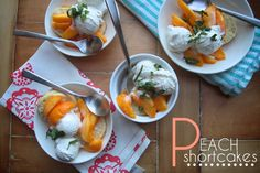 Peach shortcakes by Shutterbean - Peach season is here! And this sounds divine.