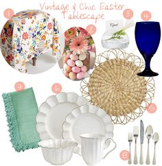 Vintage & Chic  Easter Tablescape