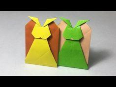 【折り紙(おりがみ)】 簡単 うさぎのポチ袋の折り方 作り方 遊べる - YouTube