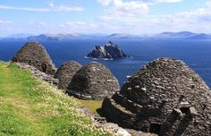 Skelligs - off the Irish coast. This is a place where Orthodox Catholic monks would live in their cell for prayer and meditation. Many others lived outside inall kinds of cold and damp, or wet weather year round. Lord Have Mercy.