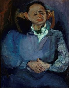 "amare-habeo: "" Chaïm Soutine (Bielorusian-French, 1894 - 1943) Portrait of the sculptor Oscar Mietschaninoff, N/D """