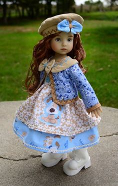 """SOLD """"Dolled Up for Winter"""" Dress,Jacket,Outfit,Clothes for 13"""" Effner Little Darling"""