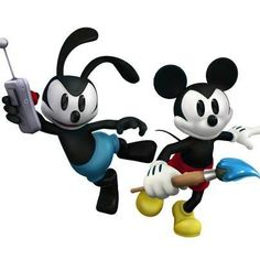 Mickey and Oswald rock together!