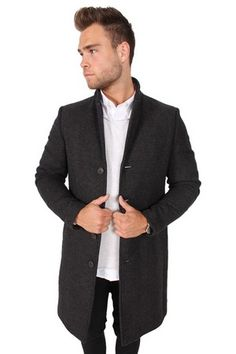 Selected Shebone Coat Black/Grey HerringBone