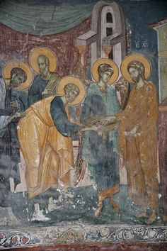 Jesus Christ Images, Fresco, Russian Icons, Holy Week, Religious Art, Byzantine, Vignettes, Mosaics, Halo