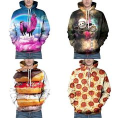 Which one of these awesome hoodies do you like the most?  1. Pink  Llama Unicorn  2. Space Panda & Cat  3. Glazed Donuts  4. Pepperoni Pizza  @ tag a friend  We've got a huge range of awesome novelty hoodies check them out.  _________________________  HOW TO SHOP:  1. Tap the link in my profile  2. Find and click the product picture  3. Tap [SHOP IT] button.  From only US$25  FREE Worldwide delivery!  _________________________  @gearbest #gearbest #menshoodie #hoodies #menswear…