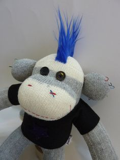 punk rock sock monkey!