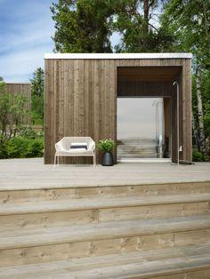 45 Smart and Creative Backyard Studio Shed Design Ideas - DecoRemodel Sauna Design, Shed Design, Garden Design, Design Design, Interior Design, Carport Modern, Modern Shed, Backyard Studio, Garden Studio