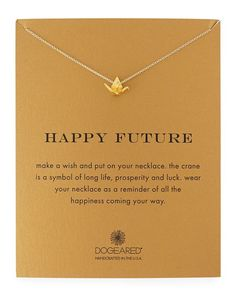 Happy Future Gold-Dipped Pendant Necklace - Dogeared - Gold