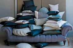 pillows are one of the few things I can sew. My couch will look like this soon.