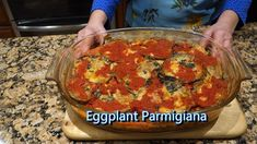 Italian Grandma Makes Eggplant Parmigiana - Recipes Fan Vegetable Dishes, Vegetable Recipes, Vegetarian Recipes, Roast Eggplant, Eggplant Parmesan, New Recipes, Cooking Recipes, Favorite Recipes, Grill Recipes