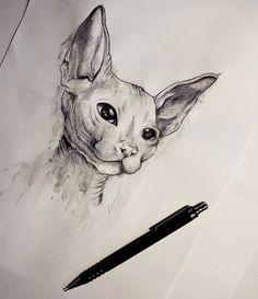 Sphinx on behance drawing ideas in 2019 tetoválásötletek, rajzok, macska. Animal Sketches, Art Drawings Sketches, Animal Drawings, Pencil Drawings, Tattoo P, Tattoo Small, Tattoo Flash, Sphinx Tattoo, Animal Tattoos
