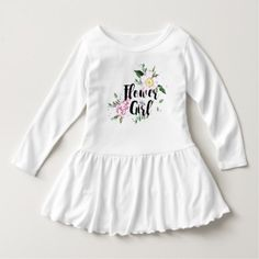 Flower Girl Floral Watercolor Wedding Dress - click to get yours right now!