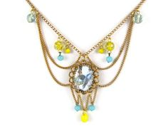 Seaside Scene Festoon Draped Necklace