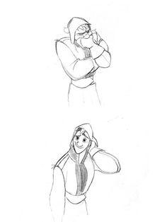 "Concept art of Kristoff by Minkyu Lee from ""Frozen"" (2013)."
