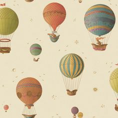 Globos i think i need a hot air balloon tattoo tattoo Air Ballon, Hot Air Balloon, Air Balloon Tattoo, Buch Design, Baby Nursery Themes, Kids Room Wallpaper, Prepasted Wallpaper, Helium Balloons, Birthday Balloons