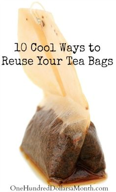 If you are a tea lover like me, you probably discard tea bags like they are going out of style. Here are some great ways to get a little more life out of them. Those little tea bags are way more versatile than you ever knew! 1. Tea Bath: Run your bath...