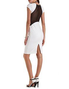 Mesh Cut- Bodycon Midi Dress #charlotterusse #charlottelook