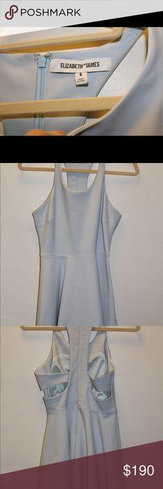 Elizabeth and James leoni mini back cutout dress Size 6; light blue Elizabeth and James Dresses Mini