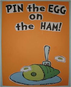 Pin the Egg on the Ham! Fun game for Read Across America!
