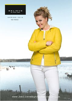 Baby Stripe Quilted Jacket with detachable hood is sporty and has an outstanding colour combination with Yellow and Off-White for spring season. IDA Jacket has great feminine fitting. The hood is detachable with stylish zipper. Fashionable IDA Jacket looks perfect with or without hood. It is a fantastic choice for easy going and relaxed timeless look. Luxurious 2 way silver zipper fastens in front. Thanks to perfect cut you can feel comfortable and look great in all sizes! Striped Quilt, Spring Jackets, Look Chic, Quilted Jacket, Looking For Women, Color Combinations, Perfect Fit, Looks Great, Jackets For Women