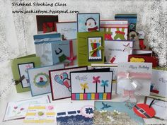 Awesome - 30 ways to use the Stocking Punch and Stitched Stocking set from Stampin up that are NOT Xmas related making this a very versatile stamp and punch!