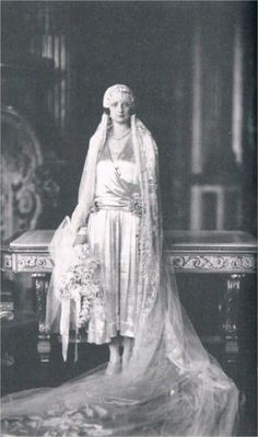 Princess Astrid of Sweden on her wedding day to Prince Leopold of Belgium.