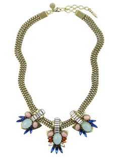 20 Best Statement Necklaces - Bold Statement Necklace 2013 *lots of saturated blue pieces this fall...I imagine this would look nice on a simple design...the necklace & nothing else