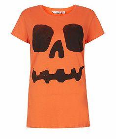 Orange  (Orange) Orange Pumpkin Face T-Shirt | 295982280 | New Look