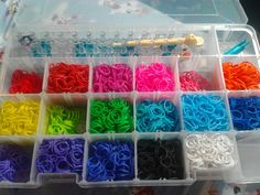 (Updated) Rainbow Loom Storage Idea