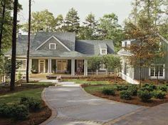 Southern Living plan Lakeside Cottage - love landscaping.