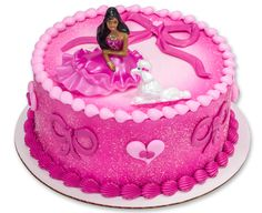 Learn how to make a Pink Barbie Fashion Cake for a girl's doll-themed birthday party.