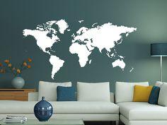 Nice Die Welt Karte Umrisse