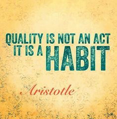 Great habit to develop
