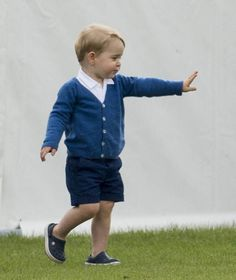 Prince George steals the show at Prince William's polo match with mom, Catherine, Duchess of Cambridge June 14, 2015.