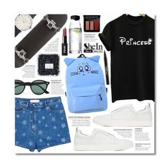 """""""Dream Big."""" by elizabeth4ever ❤ liked on Polyvore featuring Pierre Hardy, Valentino, Ray-Ban, MAC Cosmetics, Menu and Trish McEvoy"""