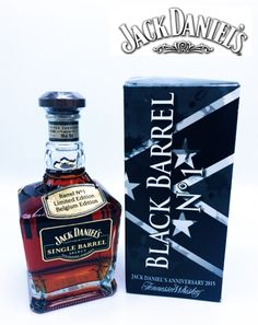 This is the Jack Daniel's - Corman - Collins Edition, Single Barrel Select, Black Barrel bottle. These bottles were sold in Belgium in and are highly collectable. Cigars And Whiskey, Bourbon Whiskey, Whiskey Bottle, Jack Daniels Black, Jack Daniels Bottle, Whisky Club, Jack Daniel's Tennessee Whiskey, Jack And Jack, Tgif