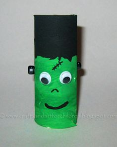 Crafts~N~Things for Children: Toilet Paper Tube Frankenstein #halloween or monster party
