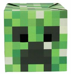 I'm going to attempt to make this for the boys: Minecraft Creeper Head