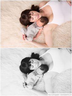 Newborn Photos, Black & White Images - Missy B Photography www.missybphoto.com Newborn with Mom photo, Baby & Mom posing