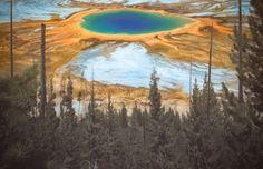 A Grande Fonte Prismática no Parque Nacional Yellowstone