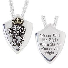 Sterling Silver Narnia Shield Pendant On Chain.