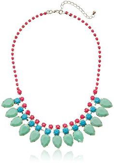 """All Rhinestone Chain 3 Rows of Stone and Rhinestones Statement Necklace, 16"""" Amazon Collection http://www.amazon.com/dp/B00H8OA7SQ/ref=cm_sw_r_pi_dp_gYVevb0CZP10A"""