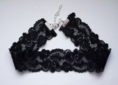 lace wide choker necklace stretch