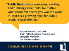 Our Career Services team is highlighting the communications career field during the month of April. We'll be sharing some insights from a few UMUC faculty and staff who work in the field. Check out the interview with Mitchell Marovitz, PhD: http://go.umuc.edu/23aYVoM