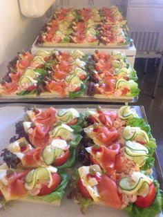 Food Displays Smoked Salmon Canapes Party Snacks Appetisers Bruschetta Buffet Catering Food To Make Smoked Salmon Canapes, Antipasto Skewers, Catering Food, Food Displays, Appetisers, Party Snacks, Buffet, Finger Foods, Food To Make